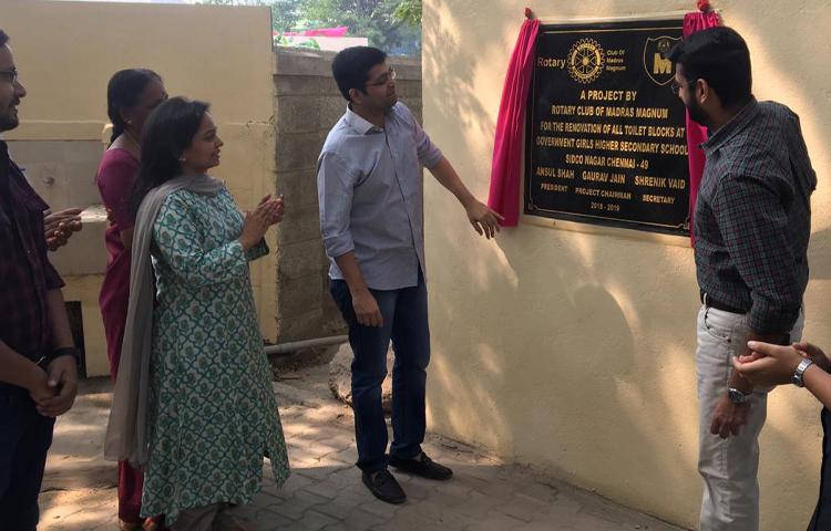 Toilet Renovation - Villivakkam Govt Girls School